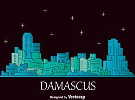 Vector de paisaje urbano de Damasco