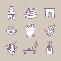 Outlined Set Icon About Alternative Ways Of Relaxing vector