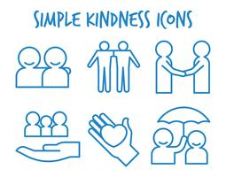 Icônes vectorielles de gentillesse
