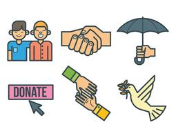 Freundlichkeit-Vektor-Icons