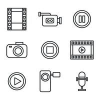 Film, Photography, And Radio Vectors