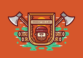 Gratis Woodcutter Lumberjack Badgeg Vector