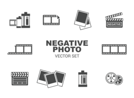 Photo Negative Icons Vector