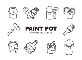 Verf Pot Pictogrammen Vector