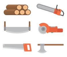 Holzfäller-Vektor-Icons