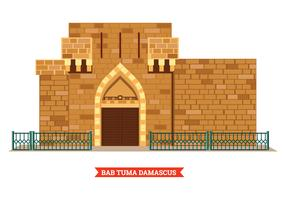 Bab Tuma Damascus Ancient City Vector
