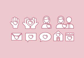 Vektor vänlighet ikonuppsättning