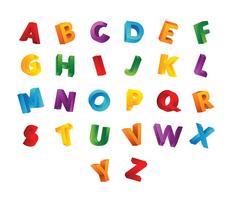 Kinderen 3D-lettertype Gratis Vector