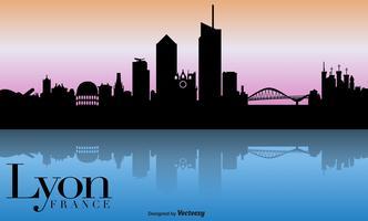 Vector Lyon Skyline fond