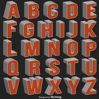 Vector 3D-lettertype