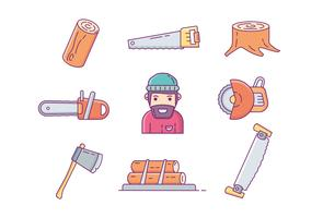 Woodcutter Icon Vectors