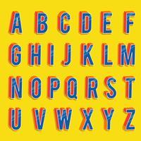 3D-lettertypen Vector