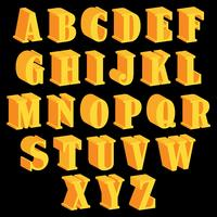 3D-lettertypen Vector iconen
