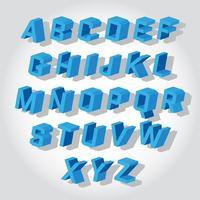 Ícones de vetor de fontes 3d
