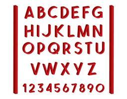 3D-Schriftart-Vektor-Satz
