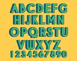 3d font vector set