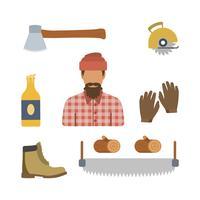 Platte houthakkersvectoren