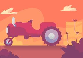 Sunset Hayride Vector