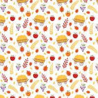 Gratis Harvest Pattern Vector