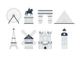 Vettore libero del punto di riferimento della Francia