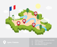 Lyon Isometric Map