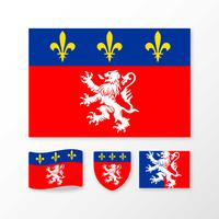 Flag Of Lyon Vectors