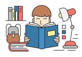 Lineare Bildung-Vektor-Icons