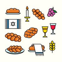 Challah Icon Vector Collection