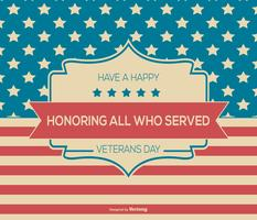 Happy Veterans Day Background Illustration