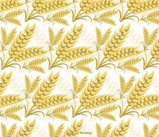 Nahtloses Vektor-Weizen-Ohren-Muster