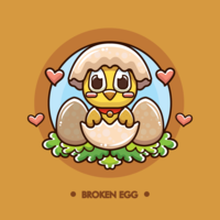 Free Broken Egg with Hatched Chick Vector