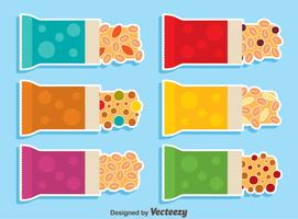 Granola Bars Collection Vector