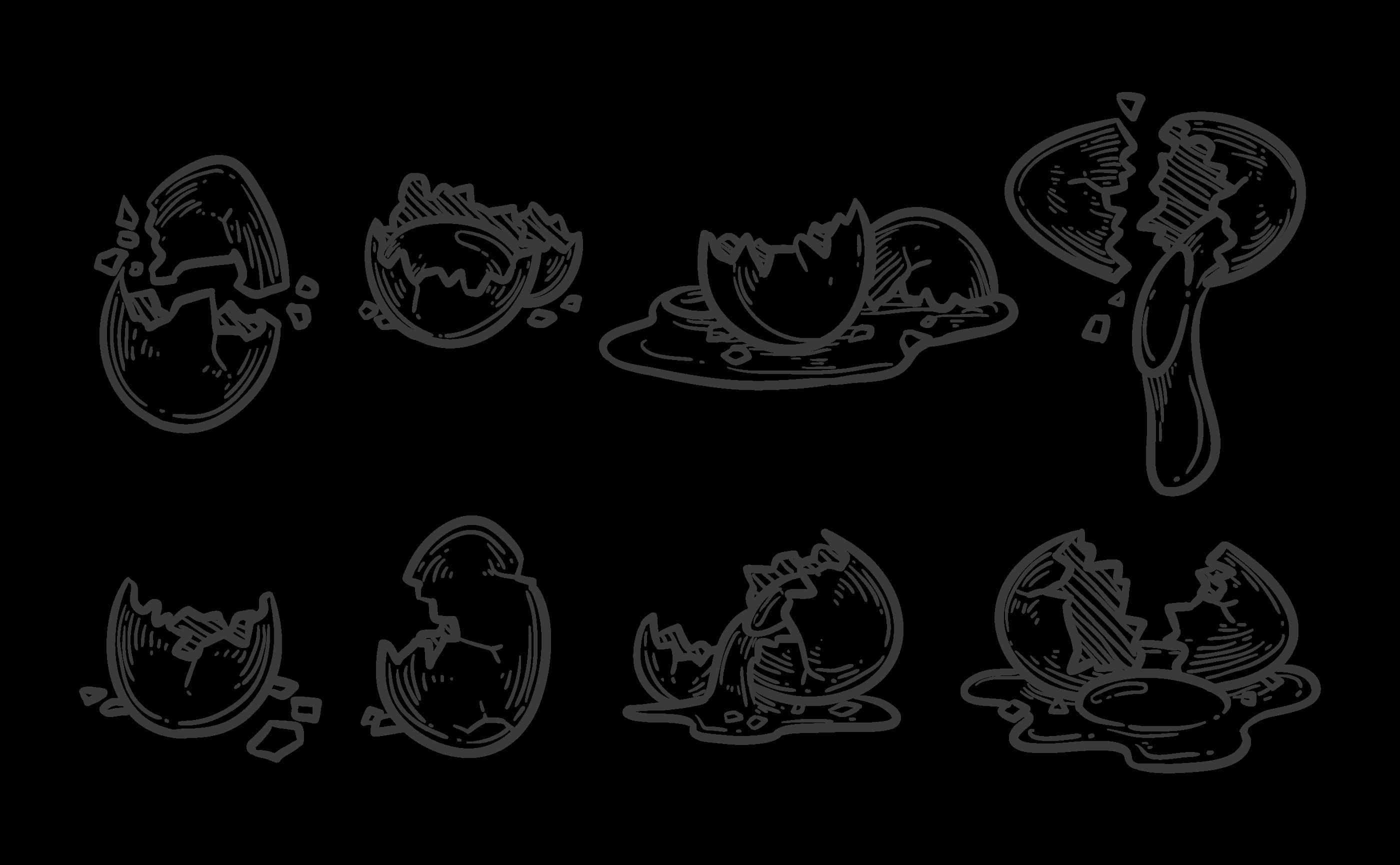 Broken Egg Icons Vector Download Free Vectors Clipart Graphics Vector Art