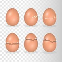Eggs With Crack Effect Illustration