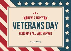 Happy Veterans Day Vector Background