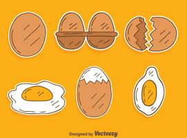 Handdragen Broken Egg Vector