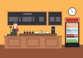 Canteen Free Vector
