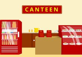 Canteen  Illustration Free Vector