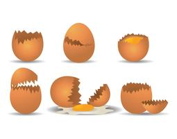 Broken egg vector set