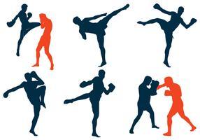 Silueta de Muay Thai