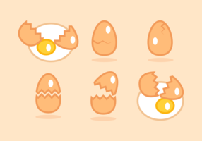 Broken Egg Gratis Vector Pack