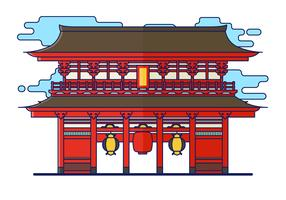 Free Shrine Vector Illustration