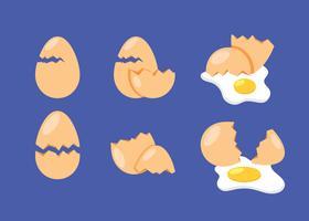 Coleção de ovos quebrados