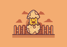 Gratis Broken Egg Vector