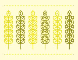 Vector de orejas de trigo