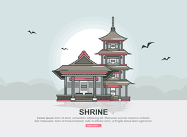 Shrine Vector Illustration
