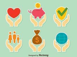 Genezing handen collectie Vector