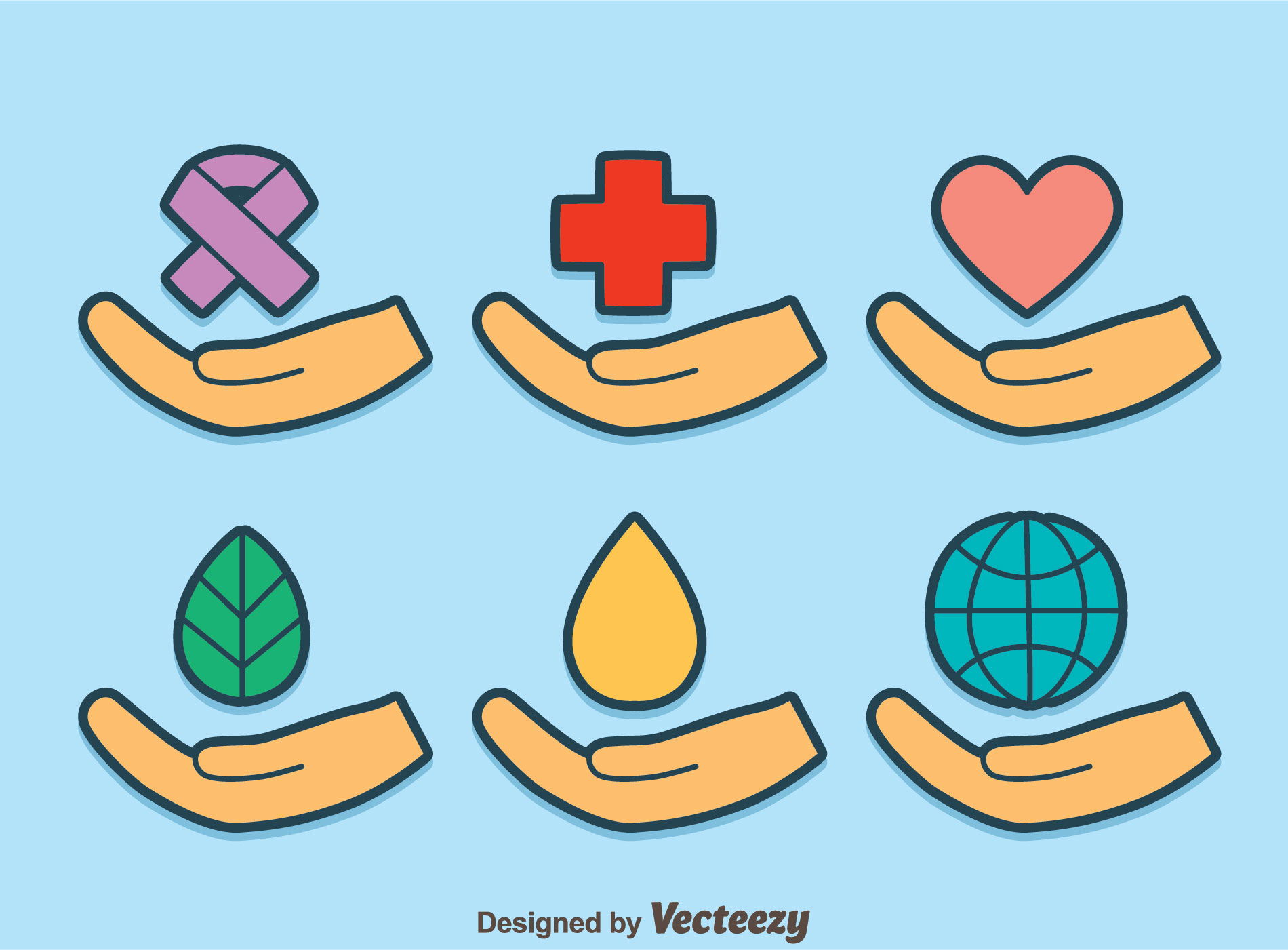 Healing hands on blue vector download free vector art stock healing hands on blue vector download free vector art stock graphics images buycottarizona Image collections