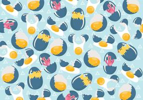 Broken Egg Pattern Vector