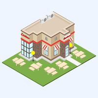 Free Isometric Canteen Vector Illustration